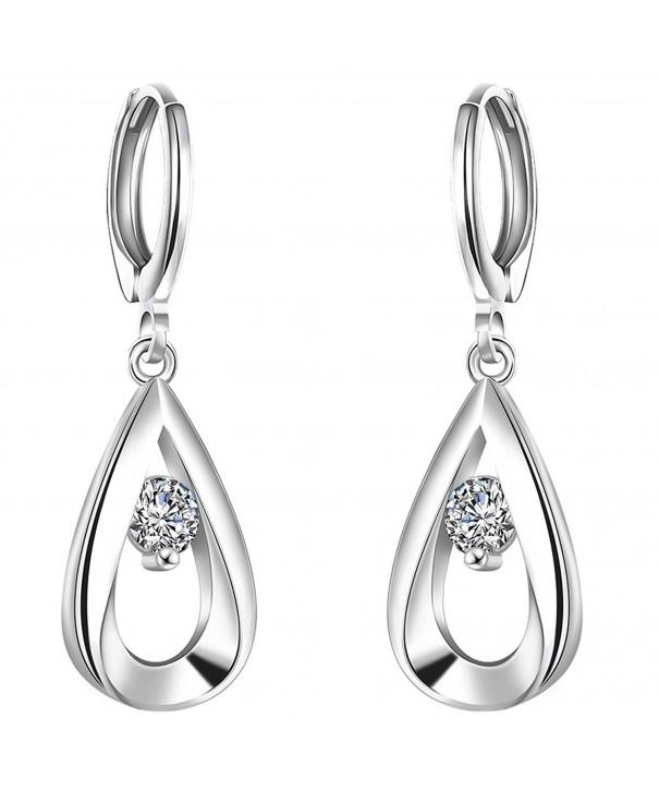 FENDINA Womens Earrings Sterling Crystal