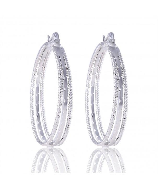 GULICX Jewelry Closure Silver earring