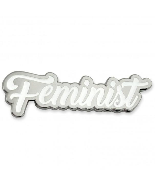 PinMarts Feminist Pride Silver Enamel