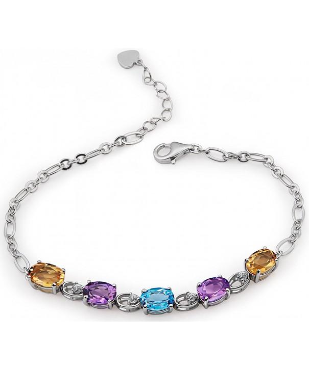 Mothers Gift Sterling Gemstones Bracelets Anniversary