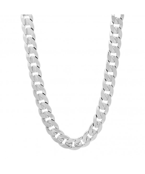 Rhodium Concave Necklace Microfiber Polishing