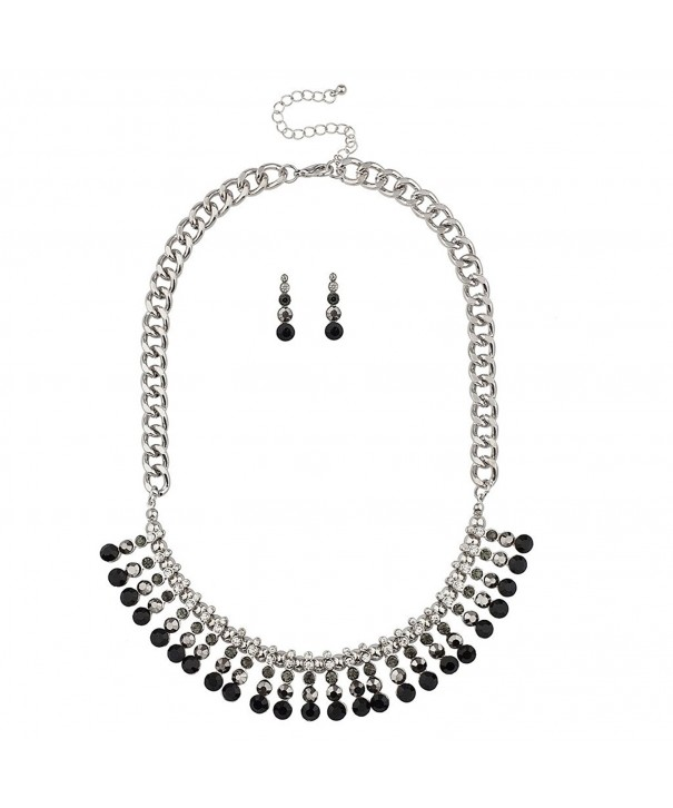 Lux Accessories Statement Necklace Matching