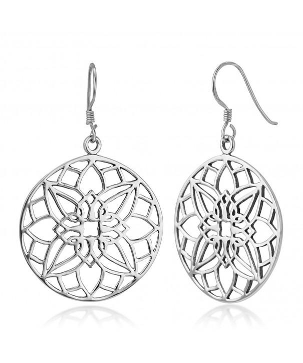 Sterling Filigree Detailed Mandala Earrings