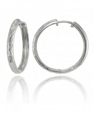 Sterling Silver Diamond Cut Hinged Earrings