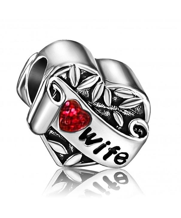 JMQJewelry Heart Birthstone Charms Bracelets