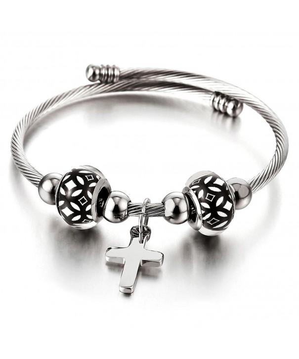 Bracelet Elastic Adjustable Stainless Twisted