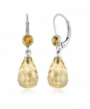 Briolette Gemstone Birthstone Sterling Earrings