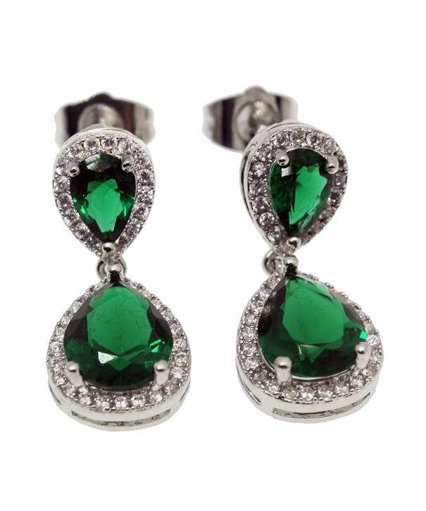 Hermosa Earrings Emerald Sapphire Jewelry