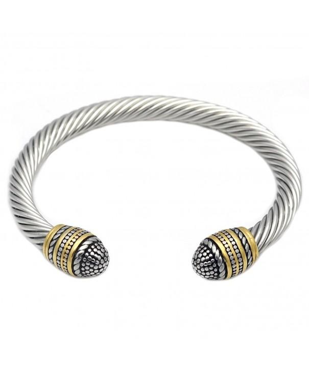 JAJAFOOK Stainless Bracelet Adjustable Polished
