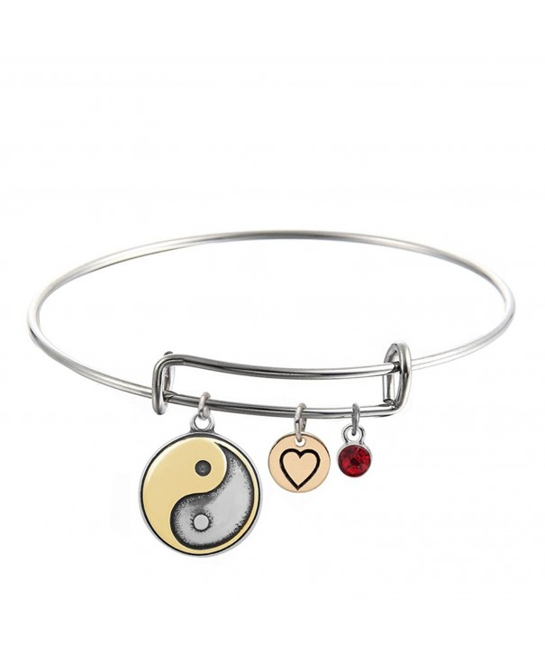 JJTZX Birthstone Stainless Expandable Bracelet