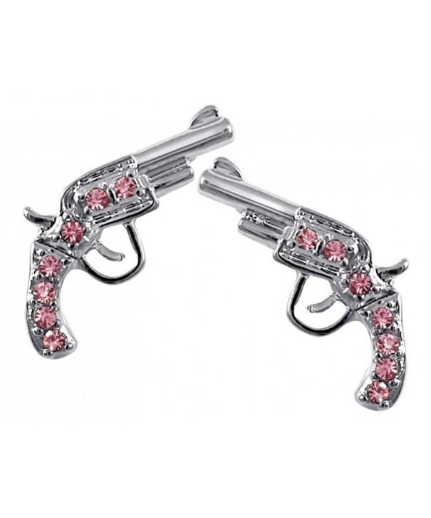 Crystal Handgun Earrings Fashion Jewelry