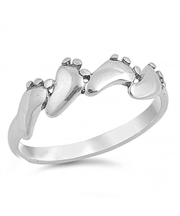 Baby Feet Footprint Sterling Silver