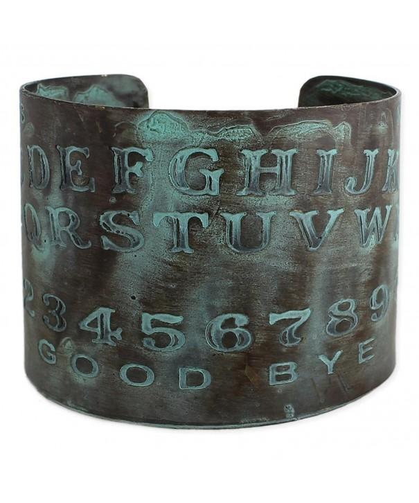 Etched Spirit Board Patina Bracelet