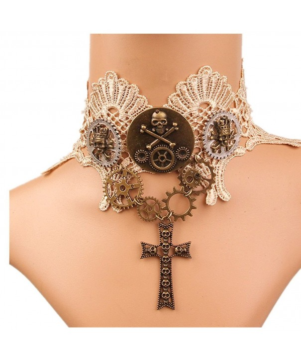 Meiysh Lolita Wedding Steampunk Necklace