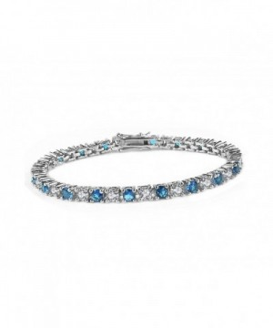 Elensan Sterling silver Simulated Sapphire Zirconia