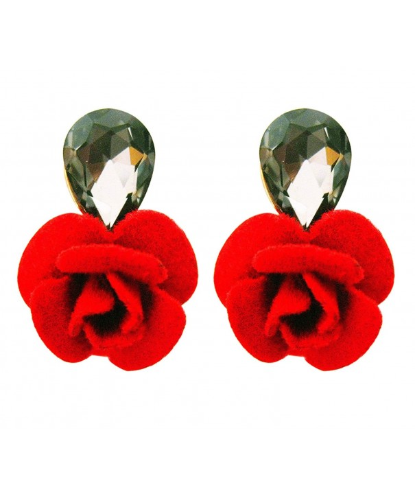Flower Crystal Earrings Fashion Jewelry