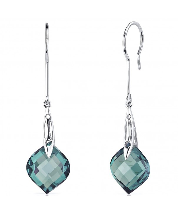Carats Simulated Alexandrite Earrings Sterling
