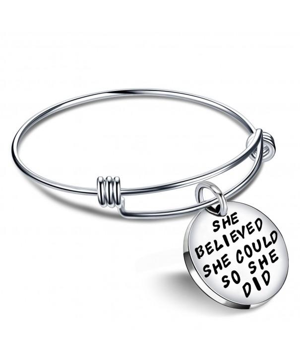 Jewelry Inspirational Bracelet Believed Expandable