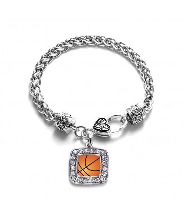Basketball Classic Silver Crystal Bracelet