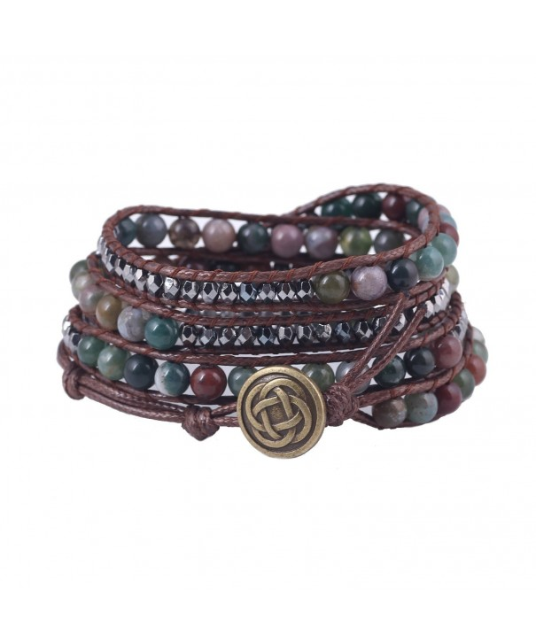 Bonnie Crystal Leather Bracelet Flower