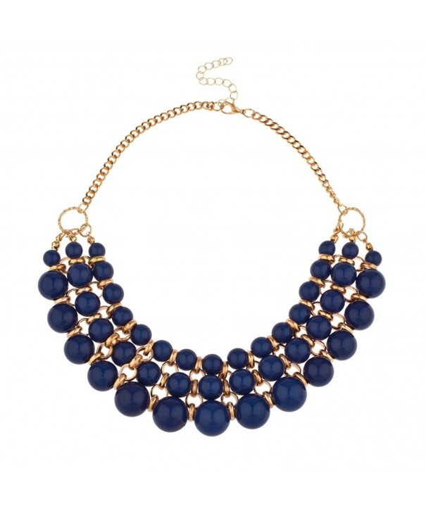 Lux Accessories Beaded Statement Necklace