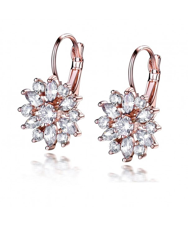 GULICX Marquise Zirconia Cluster Earrings
