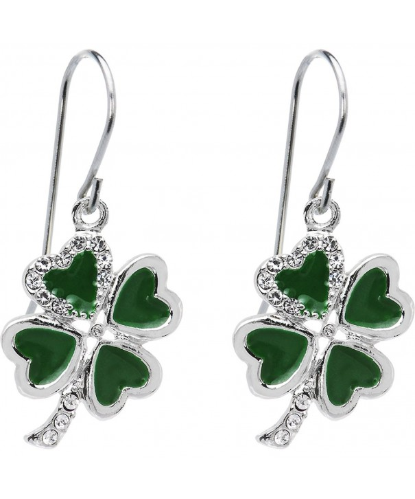 Body Candy Bright Shamrock Earrings