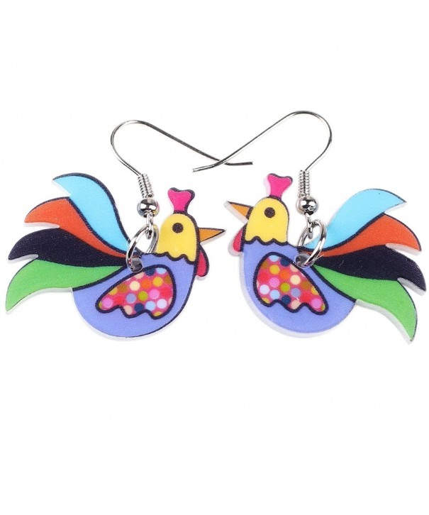 Chicken Earrings Acrylic Fashion Jewelry