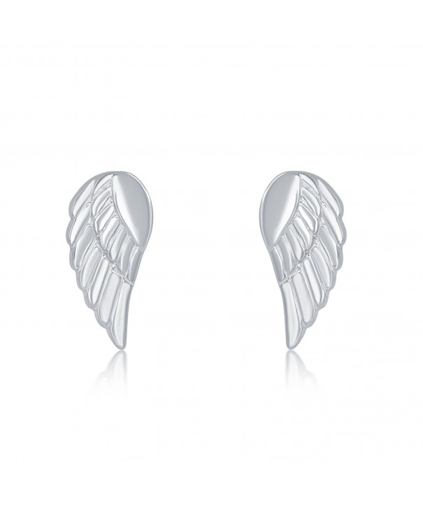 Sterling Silver Small Angel Earrings