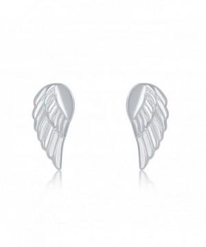 Sterling Silver Small Angel Earrings