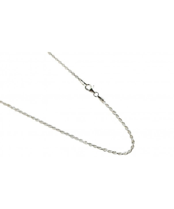 Sterling Silver Diamond Italian Necklace