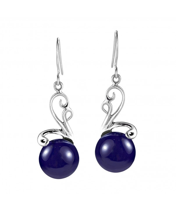Ethereal Simulated Lapis Lazuli Sterling Earrings