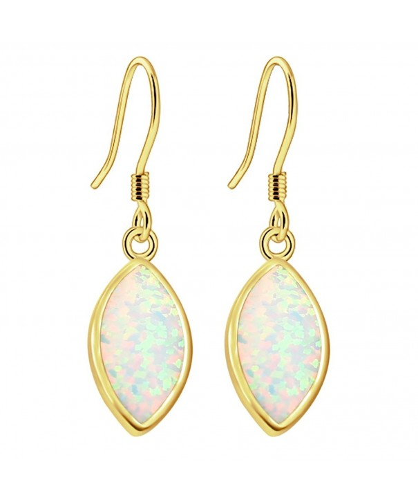 Sinlifu Gemstone Australian Marquise Earrings
