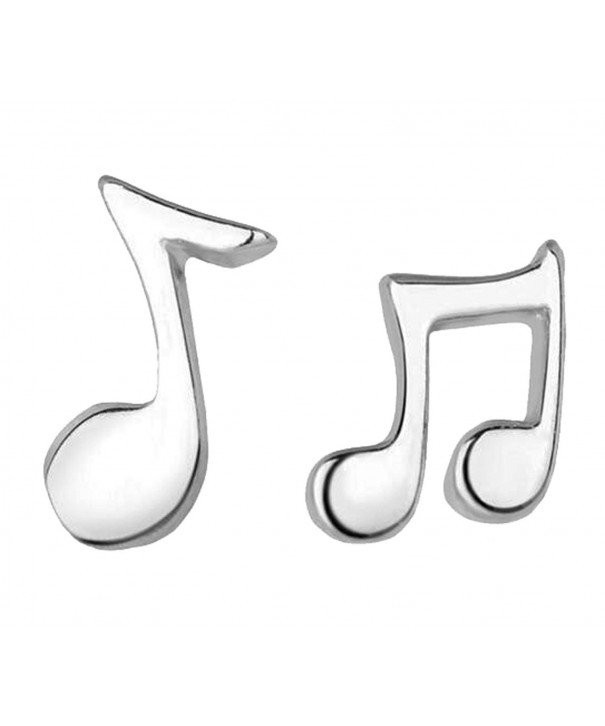 Pink Universe Silver Music Earrings
