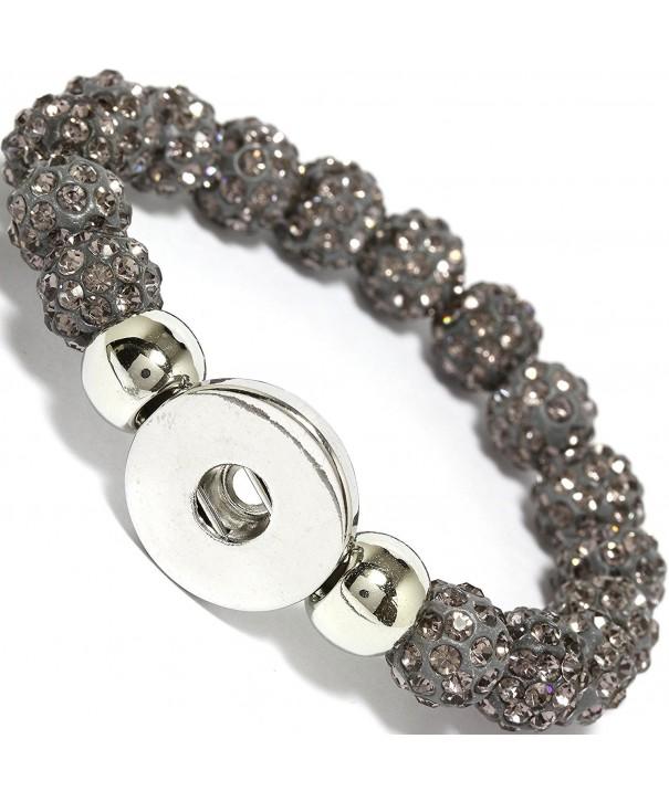 AnsonsImages Rhinestone Stretch Button Bracelet