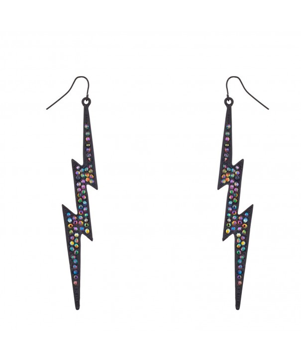 Lux Accessories Rainbow Lightning Earrings