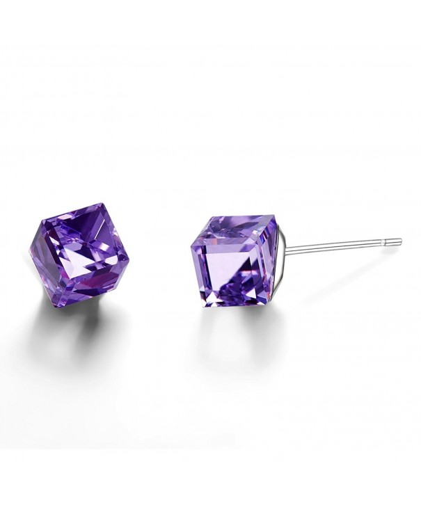 Mondaynoon Austrian Crystal Earrings Womens