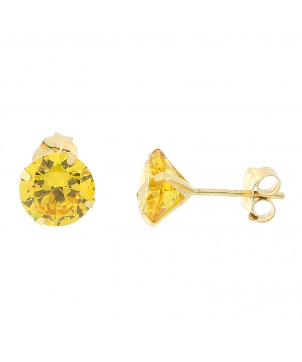 Yellow 1 5tcw Simulated Citrine Earrings