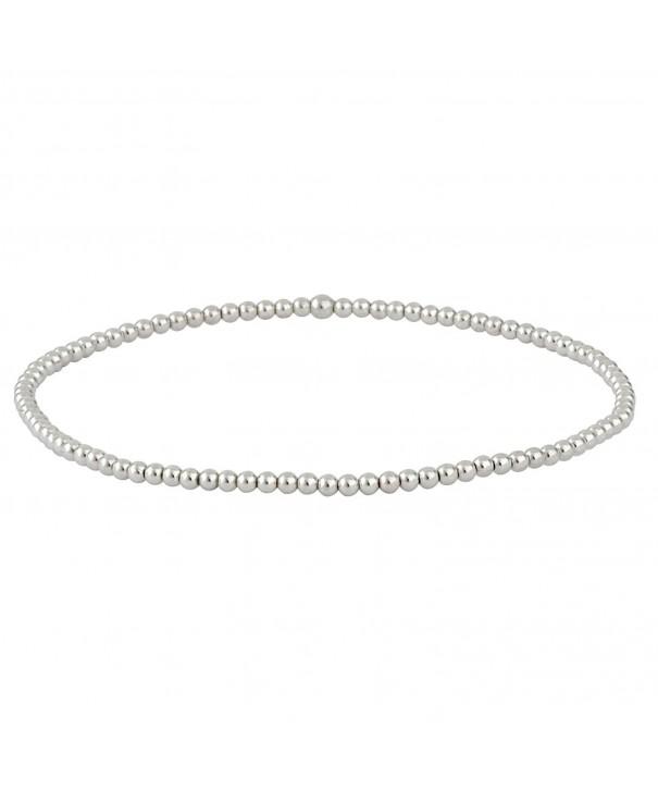 Silverly Sterling Polished Elastic Bracelet
