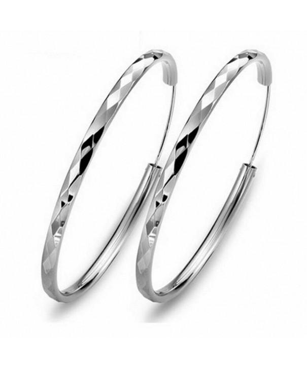 Silver Masters Sterling Hoop Earrings
