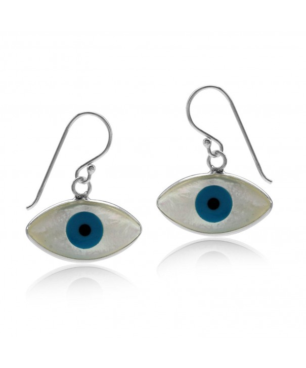 Mother Sterling Silver Marquise Earrings