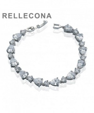 Rellecona Plated Sterling Zirconia Bracelet