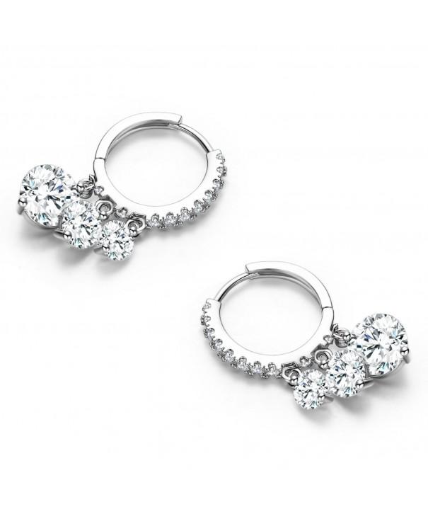 SBLING Platinum Plated Zirconia Earrings