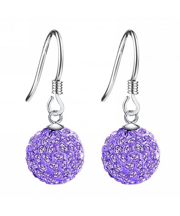 Merdia Sterling Created Crystal Earrings