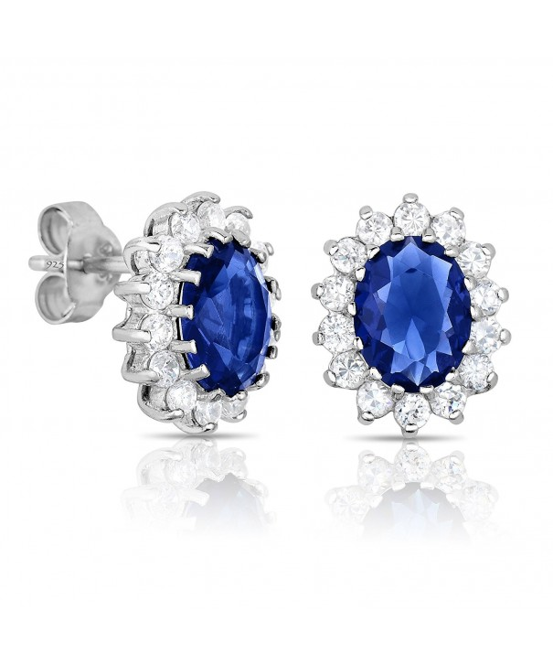 Sterling Sapphire Princess Middleton Earrings