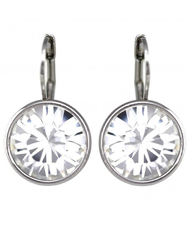 Crystal Rhodium plated Earrings Swarovski Crystals