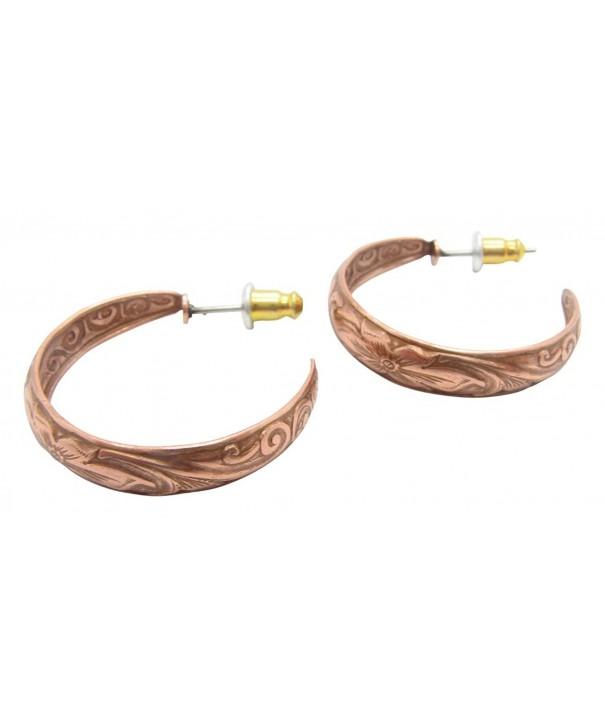Copper Hoop Earrings CE1267C03 diameter