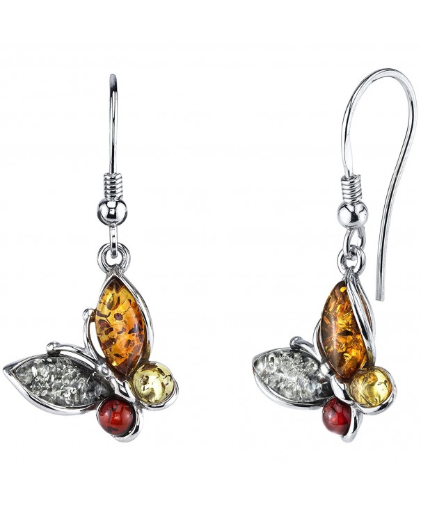 Sterling Silver Baltic Butterfly Earrings