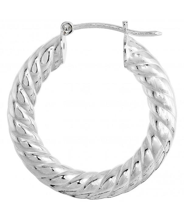 Sterling Silver Italian Earrings Spiral