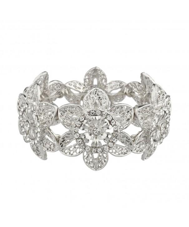 Lux Accessories Wedding Bridesmaid Bracelet